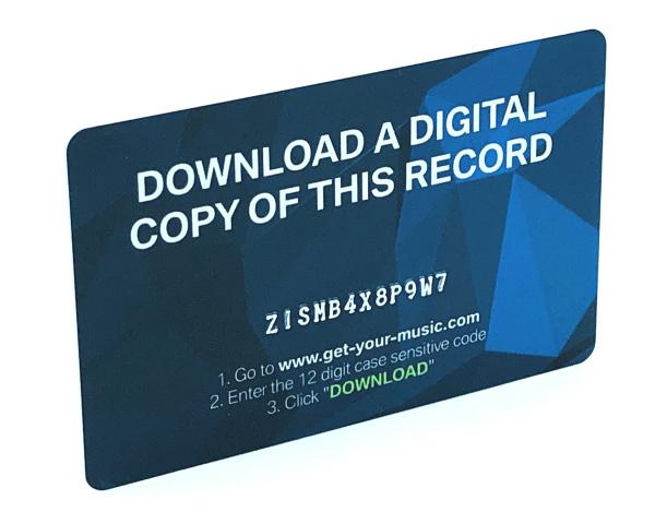 Downloadkarte aus Plastik, 86 x 54 mm, 4/0-fbg