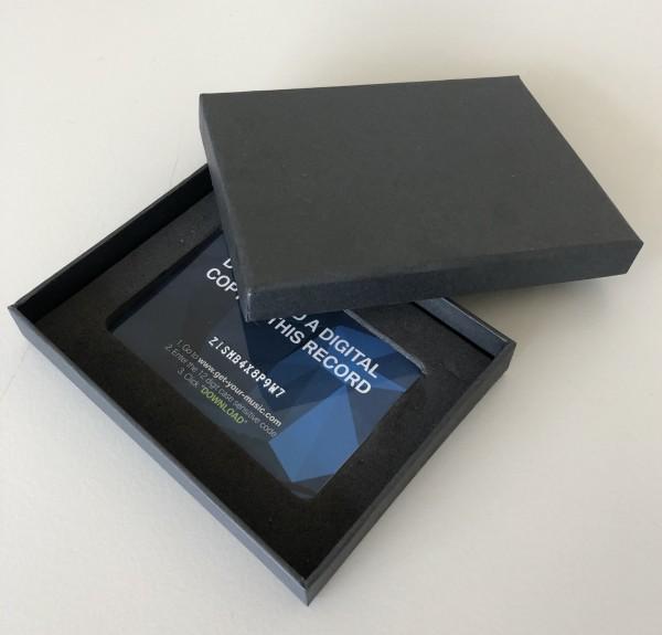 Verpackung unbedruckt, schwarz, 2-teilig